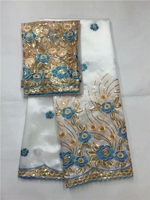 Tissu africain George haute qualité indien soie brute George emballages chaud nigérian dentelle tissus George ensemble avec Blouse pour mariage