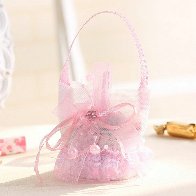 Creative Lace Favor Bags Baby Full Moon Handbags Diy Candy Gift Shower Party
