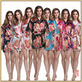 Sexy Ladies Satin Silk Print Night dress Gown Sleepwear Babydoll Pajama M--XXL HJWQ30