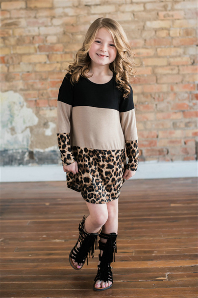HTB1SP8uah rK1RkHFqDq6yJAFXaX - LILIGIRL Mother Daughter Dresses Spring New Mommy and Me Dress for Family Matching Clothes Leopard Lace Mom Girl Dress