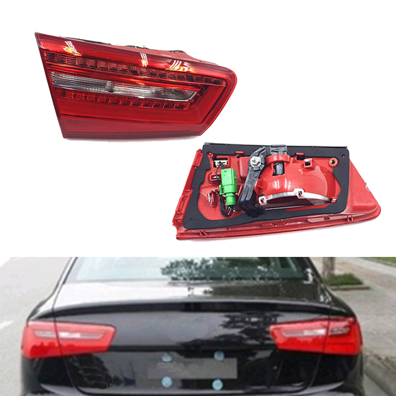 MIZIAUTO Tail Light For Audi A6 C7 2010 2011 2012 2013 2014 2015 2016 Turn Signal Lamp Red LED Inner Rear Tail Light Lamp in Car Light Assembly from Automobiles Motorcycles