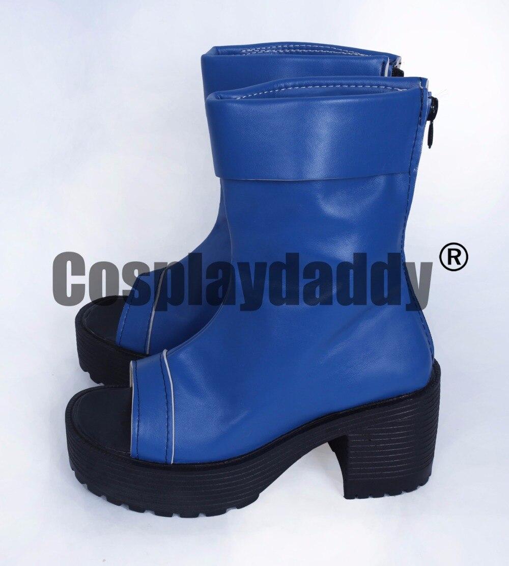 US $37.56 8% OFF|Naruto Ninja Halloween Blau Leder Dicken Heels Cosplay Schuhe Stiefel H016 in Schuhe aus Neuheiten und Spezialanwendung bei