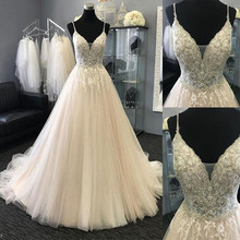 SexeMara Sexy Bridal Gowns V-neck Wedding Dresses with