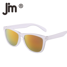 JM Wholesale Vintage Retro Original Brand Designer Sunglasses Women Men UV400 54mm Mirrored Lens 20 PCS/LOT Mixed Colors