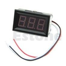 Nice 1Pc New Red LED Panel Meter Mini Digital Voltmeter DC 0V To 99 9V