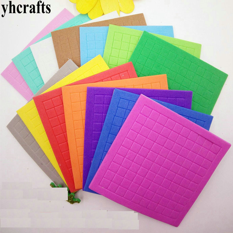 50sheets(5000PCS Stickers)/Lot,10 Color EVA Foam Mosaic Stickers Early Educational Toys Kindergarten Crafts Color Learning OEM