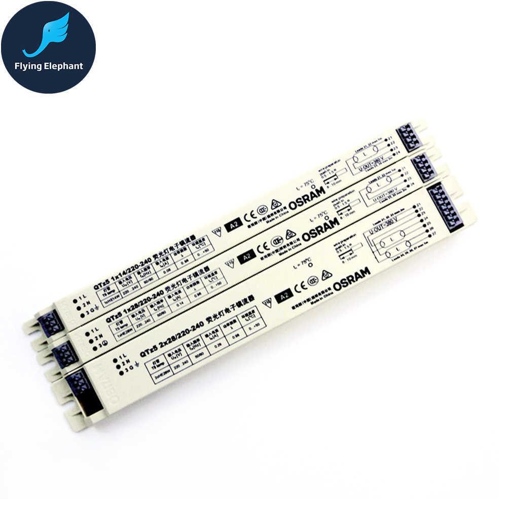 T5 Fluorescent Lamp Electronic Ballast QTZ5 1*14W 1*21W 1*28W 2*14W 2*28W  2*14-35W