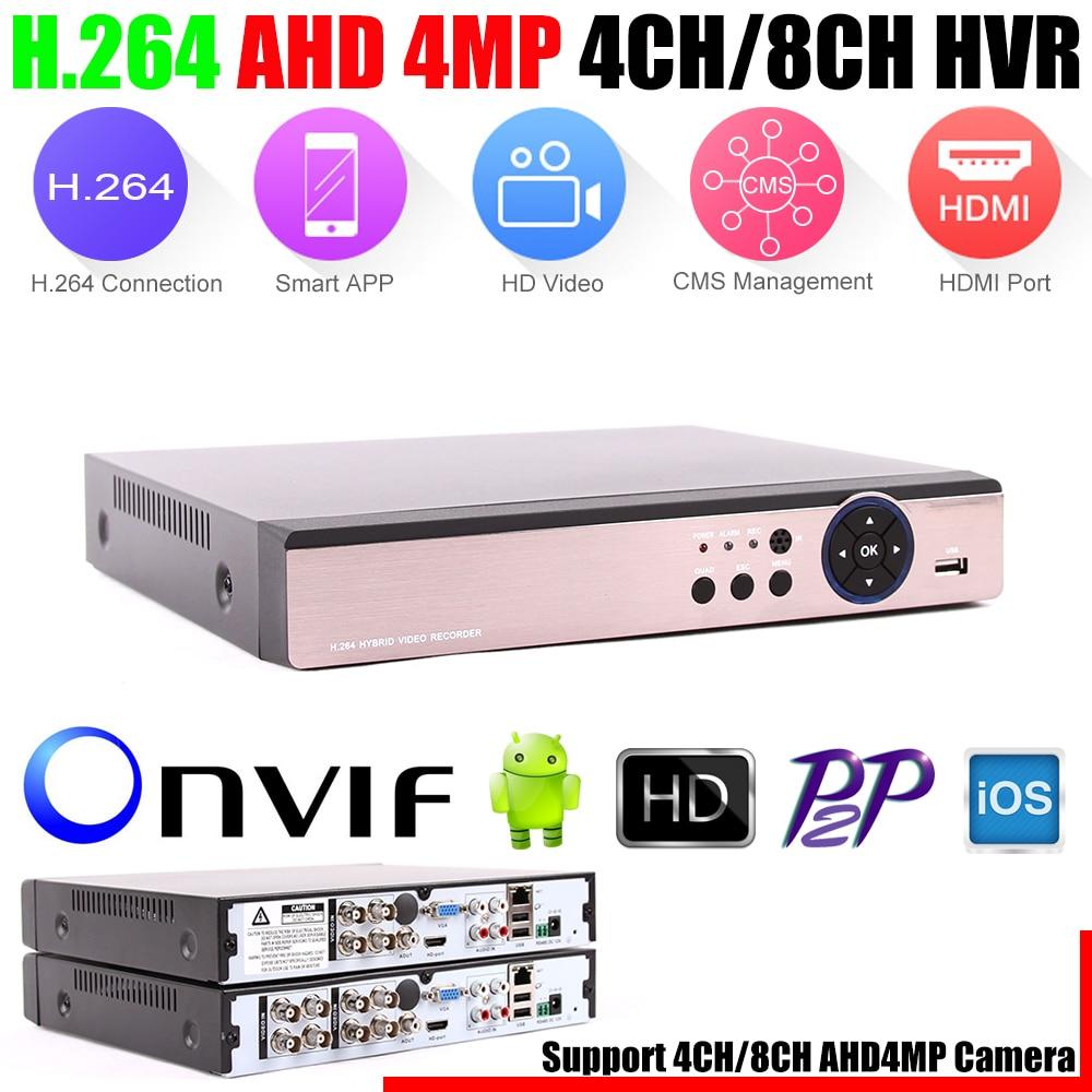 5 in 1 Security CCTV DVR 4CH 8CH AHD 4MP 3MP 1080P H 264 Hybrid Video
