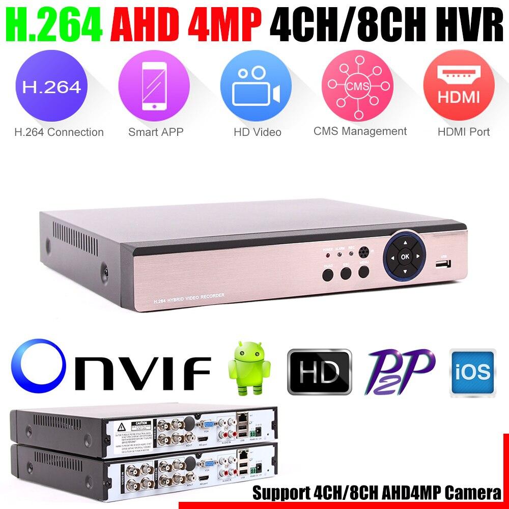 bilder für 5 in 1 Sicherheit CCTV DVR 4CH 8CH AHD 4MP 3MP 1080 P H.264 Hybrid Videorekorder für AHD TVI CVI Analog Ip-kamera Onvif2.3