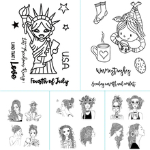 Goddess theme design clear silicone stamp / sealed DIY scrapbook / photo album decorative card making clear stamp 1pc tpr silicon transparent clear stamp feather flowers butterfly stamp diy scrapbook card making craft album decorating stamp