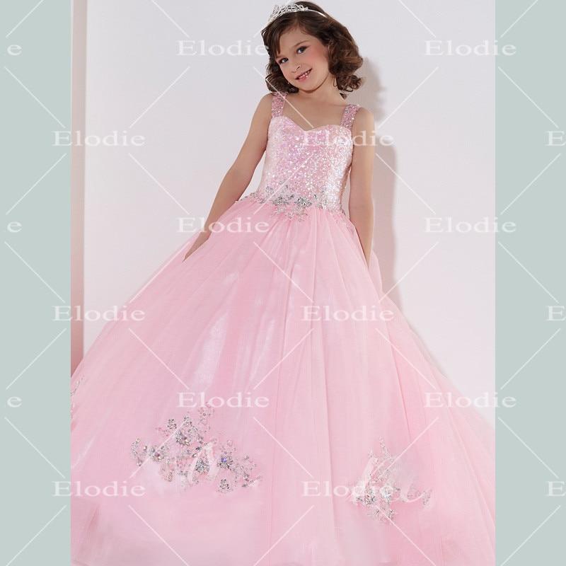 2015 rosa de grado superior ColorKids flores niña vestidos de noche ...