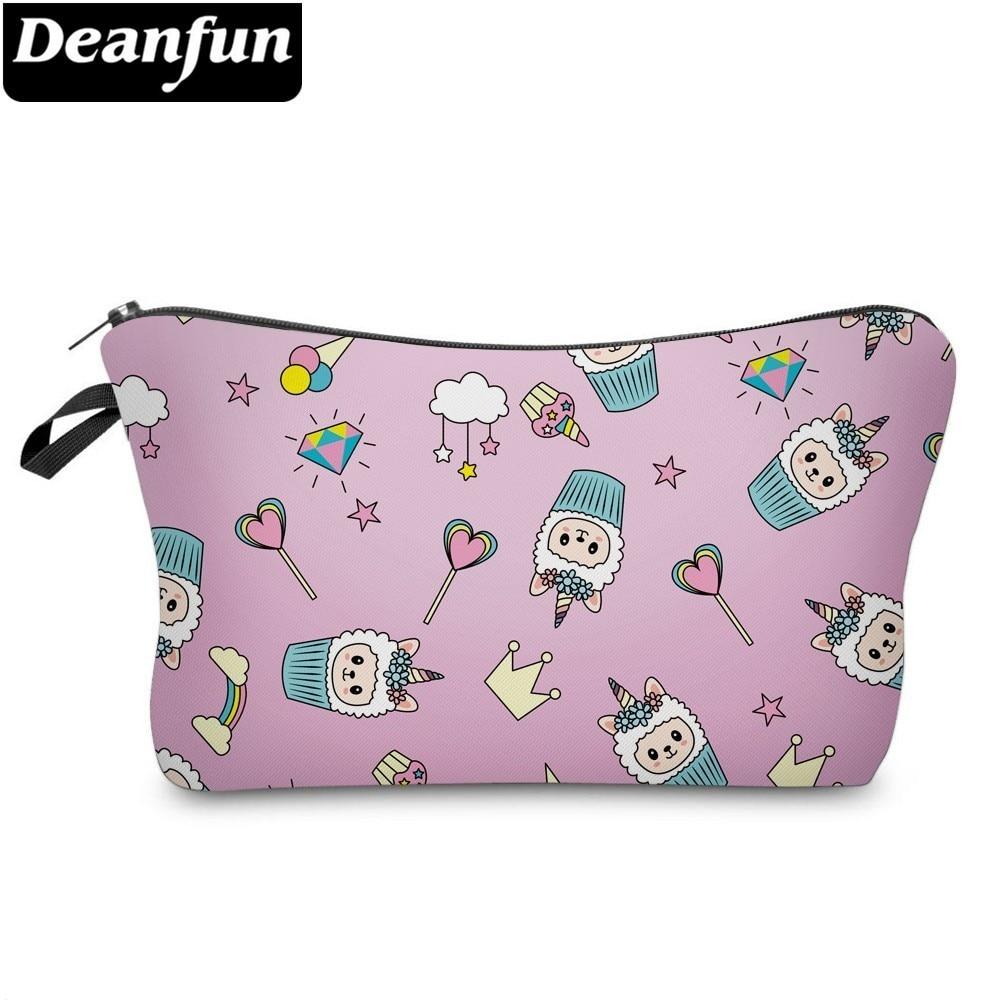 Deanfun Llama Cosmetic Bag Waterproof Printing Unicorn Small Cosmetic Bag Customize Logo For Travel 51495