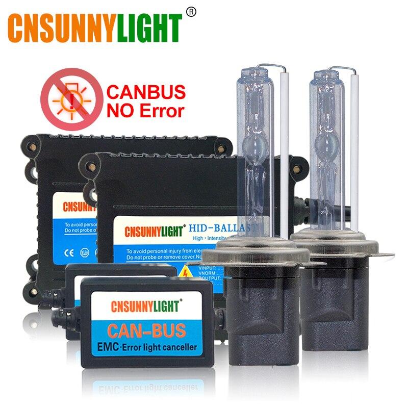 CNSUNNYLIGHT Super mince haute qualité Canbus 35 W HID xénon Kit H1 H3 H7 H8 H10 H11 9005 9006 880 voiture avertissement d'erreur gratuit avec EMC