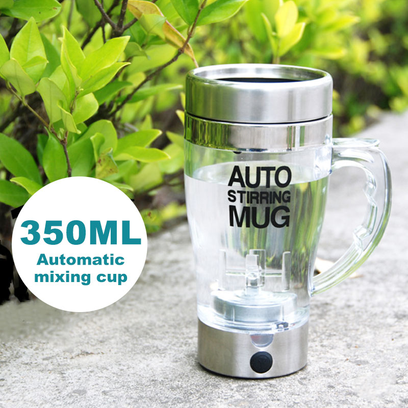 Automatic Coffee Maker 350ml Kitchen Grinding Beans Coffee Powder Creative Automatic Coffee Cup Tea Stainless Steel+Glass đồng hồ gucci dây nam châm