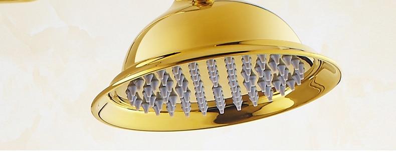 "HTB1SPAOjtbJ8KJjy1zjq6yqapXa6 Luxury Rose Golden Bathroom Shower Faucet Wall Mounted 8"" Rain Showerhead Coming With Hand Spray Round Bar Mixer Shower Set"