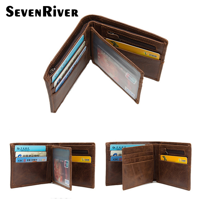Genuine Leather Men Wallet Short Bifold Wallet Man Clutch Coin Purse Card Holder Male Purse Real Leather Wallet Brown macygraymg real crocodile leather wallet man purse business purse men leisure wallet men short wallet