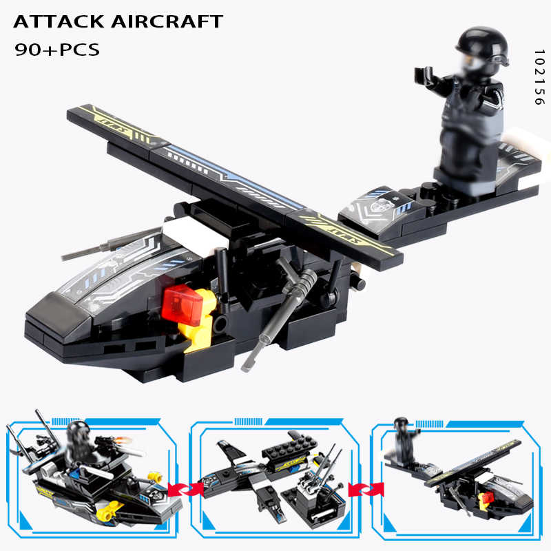 695 шт. LegoINGs SWAT городской полицейский грузовик строительные блоки наборы корабль вертолет автомобиль кубики для творчества подвижные игрушки для детей