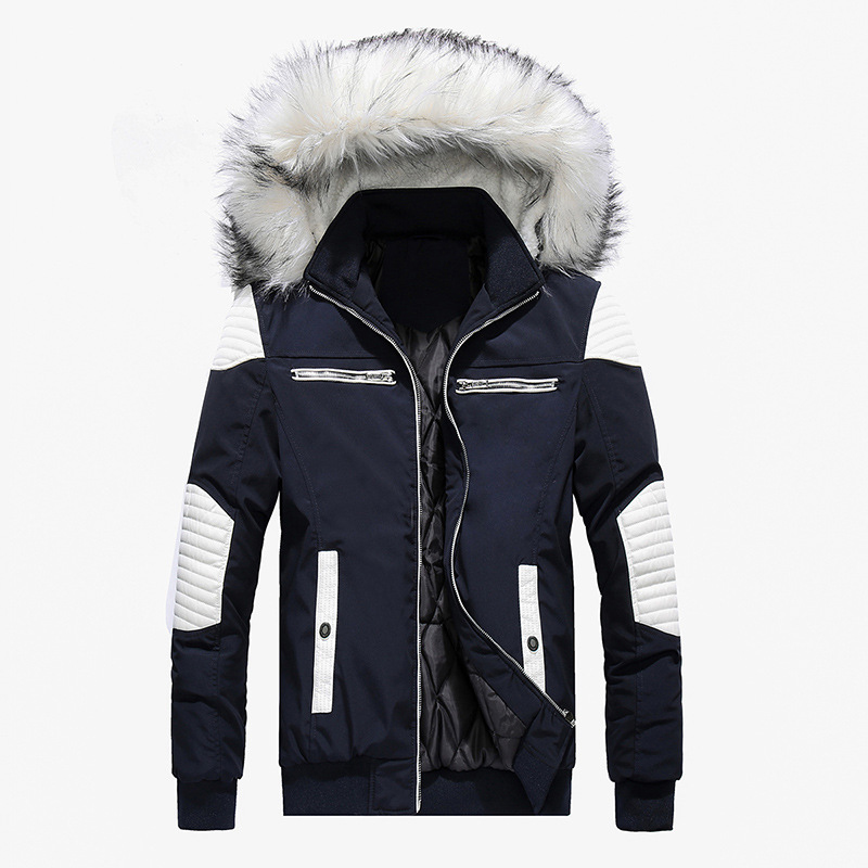 63be70a881413 Spring Autumn Jacket Men Clothes 2019 Casual Thicken Warm Parkas Streetwear Fake  Fur Collar Hooded Jackets