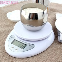 Кухонные 5000 г/1 г 5 кг пищевая диета почтовые Кухонные весы для измерения баланса светодиодные электронные весы