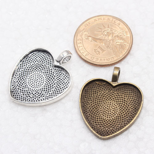 25mm antique silver bronze heart shape blank pendant trays 1 inch 25mm antique silver bronze heart shape blank pendant trays 1 inch bezel pendant settings mozeypictures Image collections