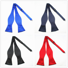 GUSLESON New Quality Fashion Mens Bowties Solid Color Plain Silk Self T
