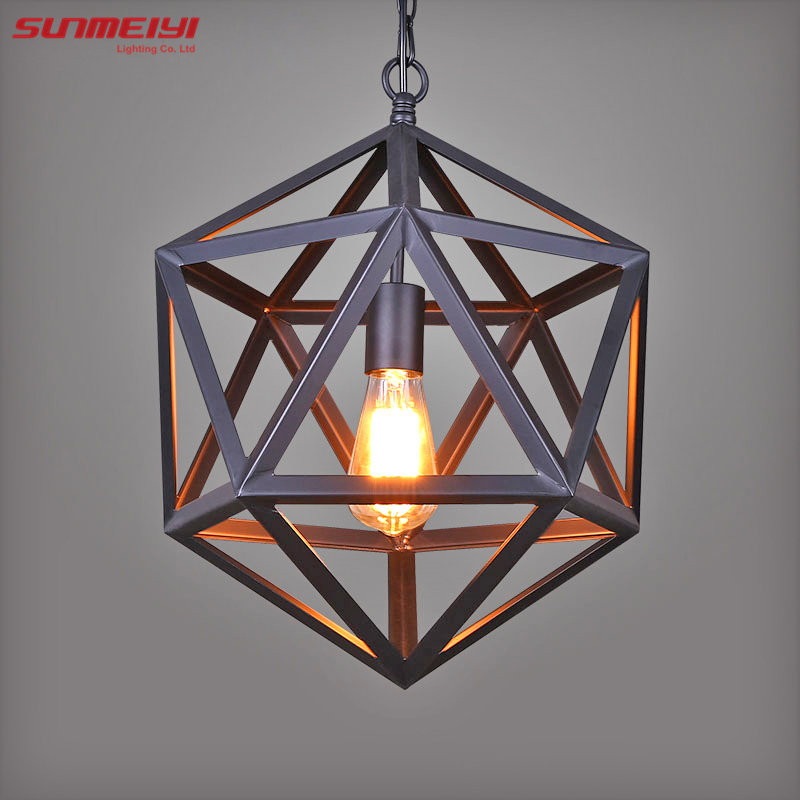 Vintage Pendant Light Industrial Edison Lamp American Style Ancient Wrought Iron RH Loft Coffee Bar Restaurant bedroom Lights rh led pendant lamp loft restaurant bar