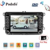 Podofo Автомобильный мультимедийный dvd плеер 2 Грех gps автомобилей Радио Стерео 7 Bluetooth USB 2din Авторадио резервного копирования монитор автомоби