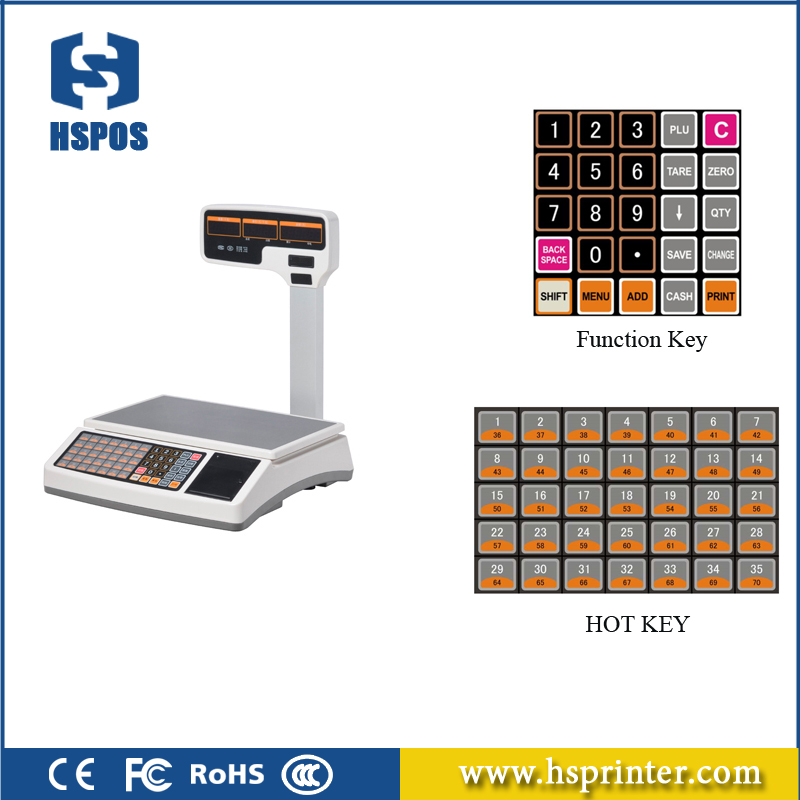 Computing Electronic 30kg Weighing Scale For Food With Receipt Printer And 1000 PLUs For Cash Register scale With Pc Program комбайн philips hr7628 650вт
