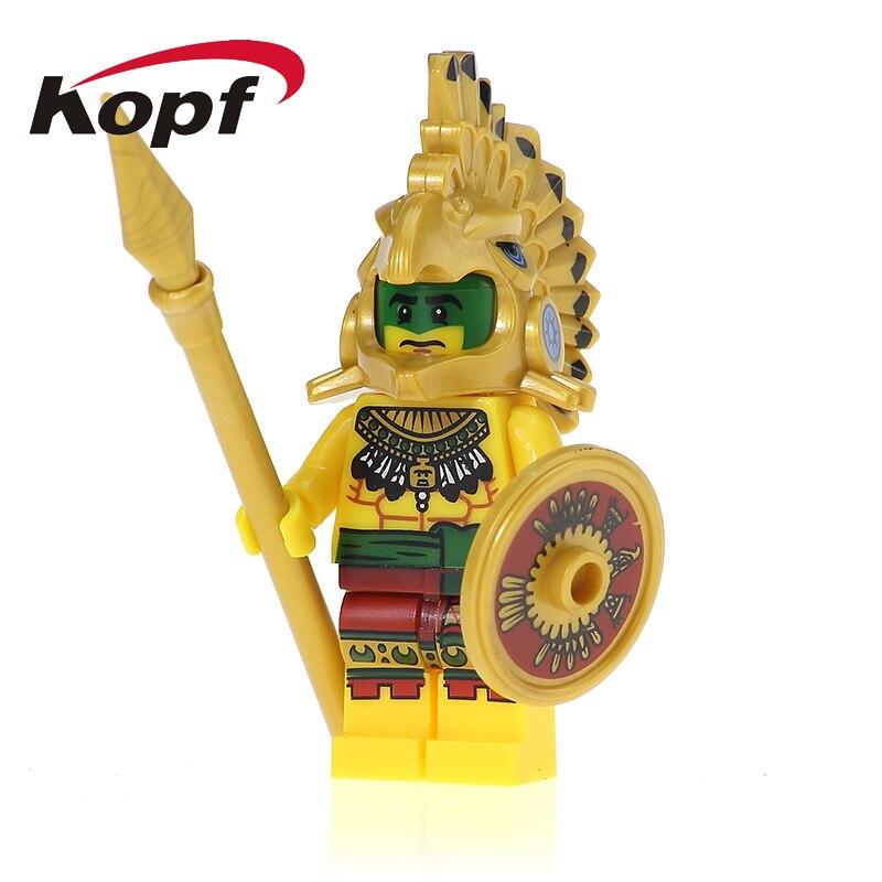 XH 621 Singel Sale Super Heroes Egyptian Legend Aztec Warrior Atlantis Pharaoh Building Blocks Best Education Gift Toys Children