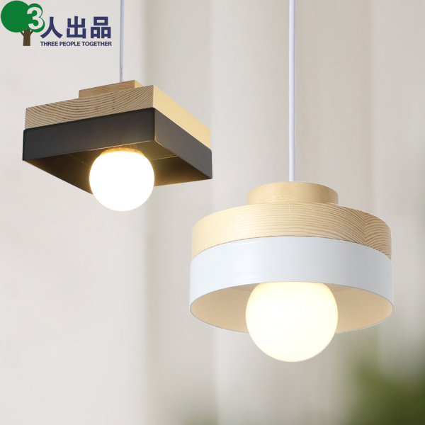 Nordic minimalist wood pendant Lights creative personality dining room living room bedroom balcony aisle lighting ceiling lighting minimalist modern balcony study bedroom lighting led intelligent atmospheric living room dining room