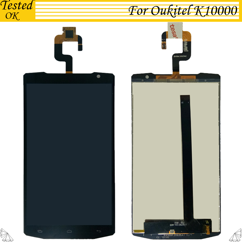 100 Tested OK For Oukitel K10000 LCD Display And TP Touch Screen Digitizer Assembly lcds 5