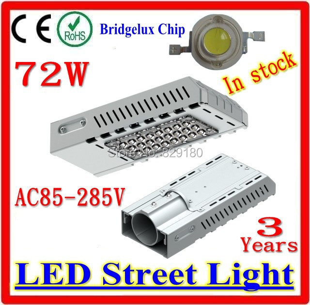 72W LED Street Lights AC 85 265V Road Lamp Outdoor Waterproof IP65 LED Garden Lights Warranty 3 years