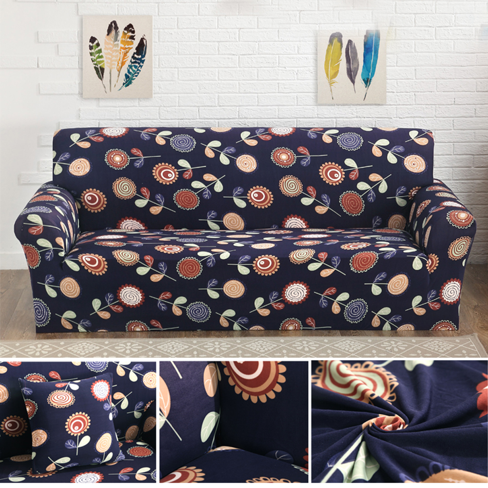 Elastic Sofa Cover Flower Printed Spandex Stretch Cloth