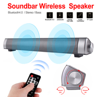 10W Wireless Bluetooth Speaker Portable Super Bass Home Theater Soundbar TV Speaker Subwoofer Bluetooth Column for TV PC