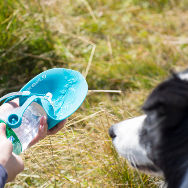 650ml Portable Pet Dog Water Bottle Soft Silicone Leaf Design Travel Dog Bowl For Puppy Cat Drinking Outdoor Pet Water Dispenser