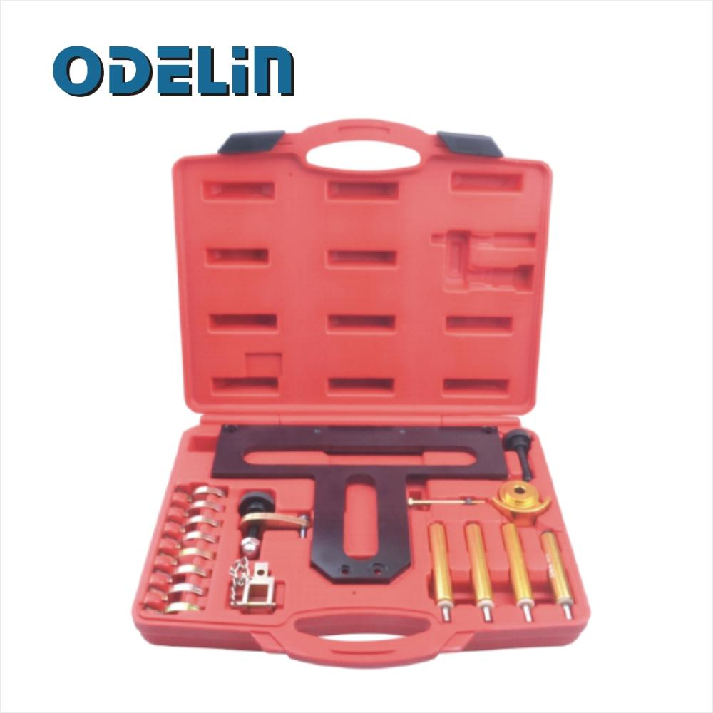 ODELIN Engine Timing Locking Tool Kit For BMW N42 N46 for 1.8, 2,0 18pc Garage Tool Kit Set wholesale 2 2 2 5 dci engine camshaft timing tool crankshaft alignment locking set for renault auto repair tools 2pcs lot