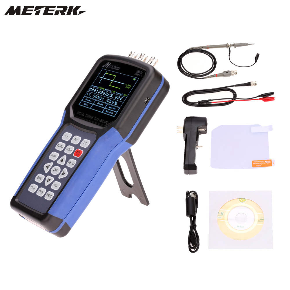 Portable Digital Oscilloscope : Meterk handheld digital oscilloscope signal generator
