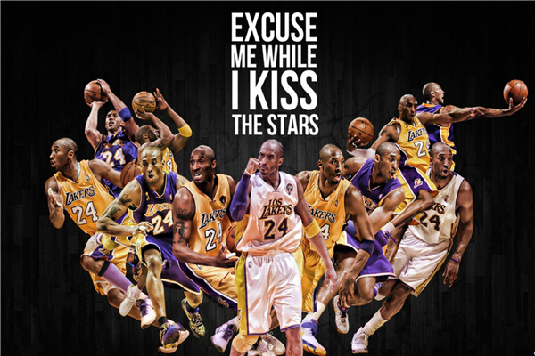 Kobe Bryant Posters All Star Sticker Custom Canvas Arts NBA Basketball Wallpaper Lakers Kids Wall Stickers Home Decor #P1254#