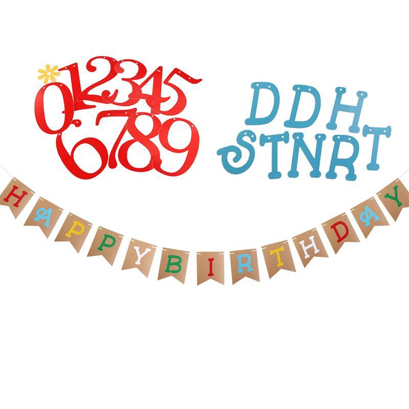 287 26 De Réductionjoyeux Anniversaire Drapeaux Faits à La Main Banderoles Bannière Pour Enfants Fête Danniversaire Bébé Douche