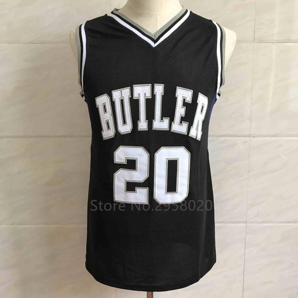 jimmy butler jersey 20 gordon hayward butler university color oscuro baloncesto jersey bordado cosido personalizada cual