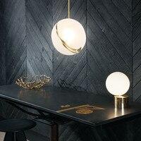 Nordic Moderne Ball Loft Led Anhänger Lichter Schlafzimmer Lampe Nacht Hängen Lampe Parlor Restaurant Led Anhänger Lampe Art Home Deco-in Pendelleuchten aus Licht & Beleuchtung bei
