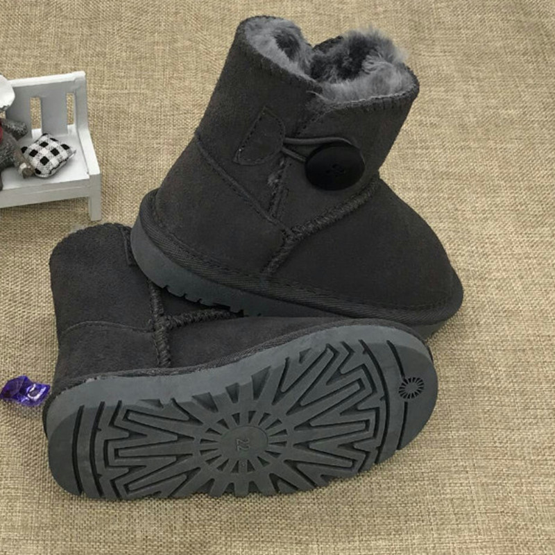 Children Shoes Girls Boots Winter Australia Brand Warm Ankle Toddler Boys Boots Shoes Kids Snow Boots Children's Plush Warm Shoe babyfeet 2017 winter fashion warm plush high top genuine cow leather children ankle girls snow boots kids boys shoes sneakers