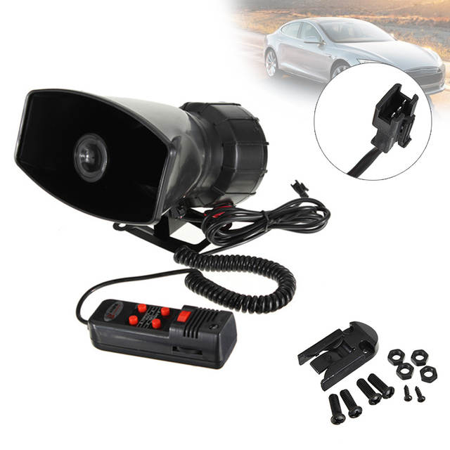 Van Horn Auto >> 12v 100w 5 Tone Car Horn Loud Tone Vehicle Boat Car Motorcycle Van Truck Siren Loud Horn Auto Speaker Alarm 150db