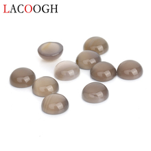 Fashion 20pcs/lot Dia 8 10 12mm Round Flatback Stone Cabochons Beads Natural Cabochon Base for DIY Jewelry Makings