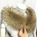 70 cm de largo de alta calidad real cuello de piel cálido Abrigo de invierno Suéter Cuello de Piel Bufandas deformaciones