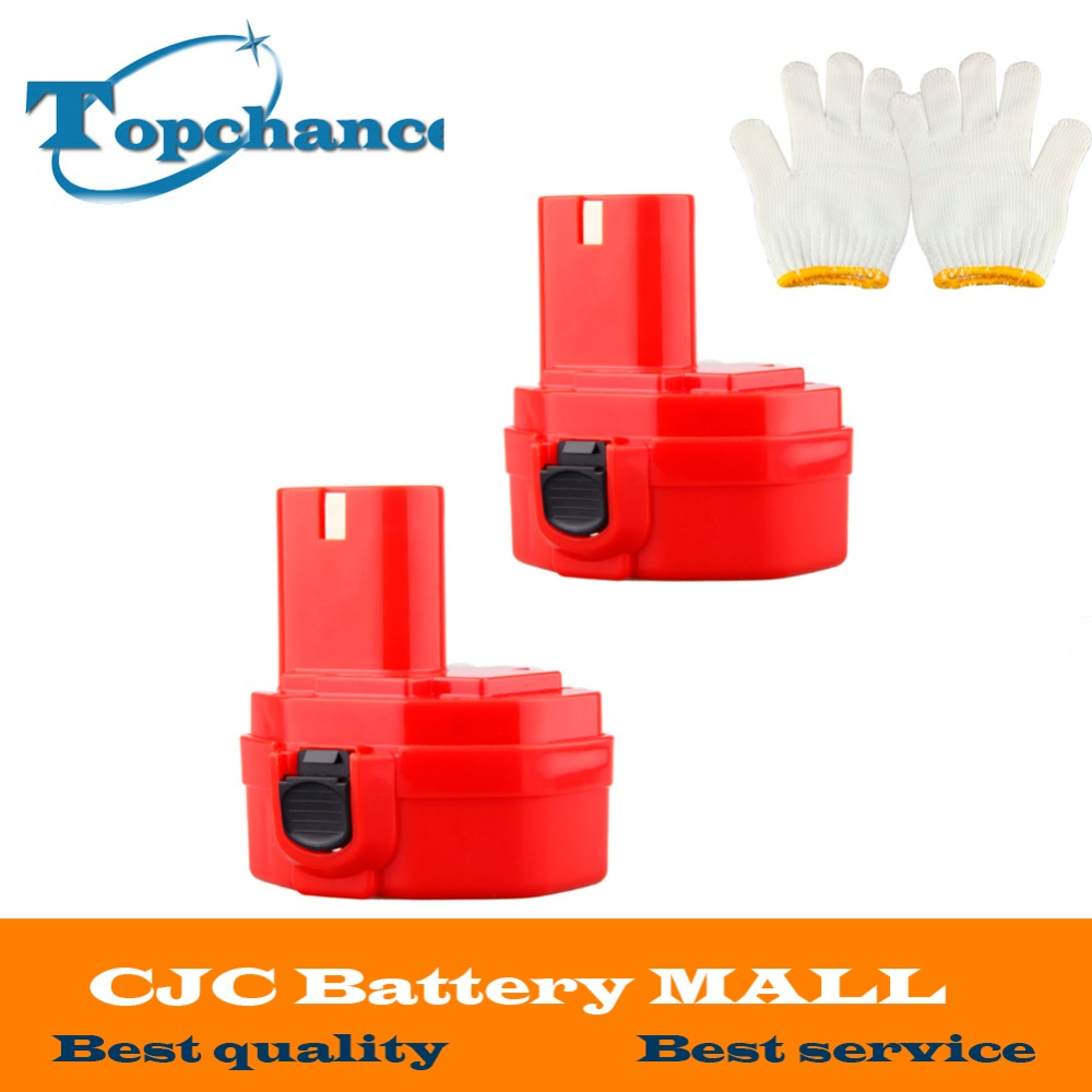 2PCS <font><b>14.4V</b></font> 2000mAh NI-CD Replacement <font><b>Battery</b></font> for Makita 1420 1422 192600-1 193985-8 6233dwae 6333dwae 192699-A 193158-3 image