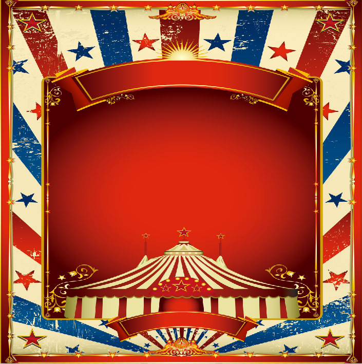 8x8ft carnival circus red tent stars stage kids children