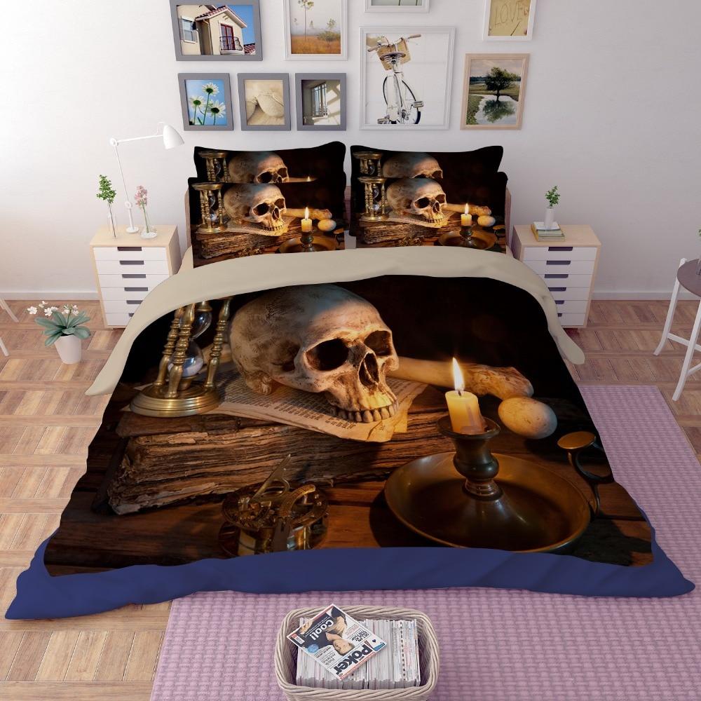 Online Get Cheap Skull Comforter Full Aliexpress Com