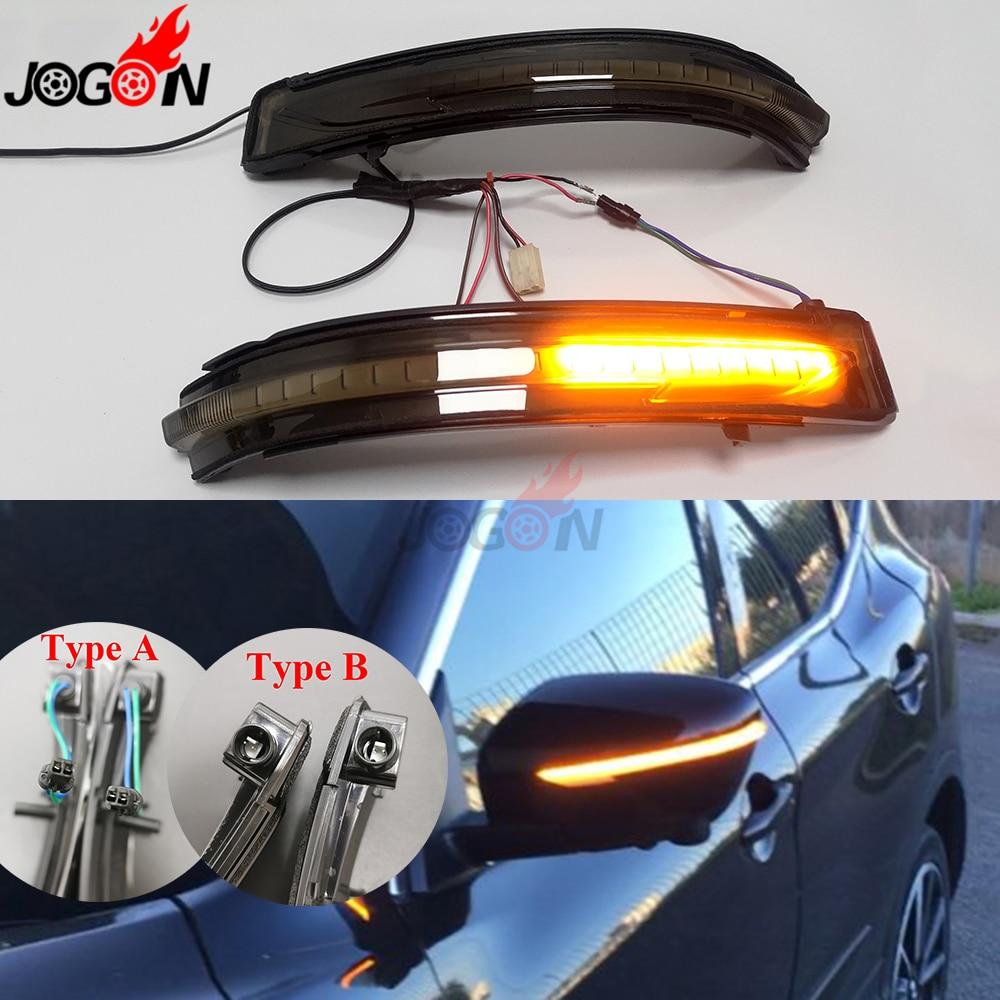 Smoke For Nissan X Trail T32 Qashqai J11 Murano Z52 Navara NP300 Pathfinder Rearview Mirror LED
