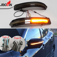 Smoked For Nissan X Trail T32 Qashqai J11 Murano Z52 Juke Navara NP300 Pathfinder Rearview Mirror LED Dynamic Turn Signal Light
